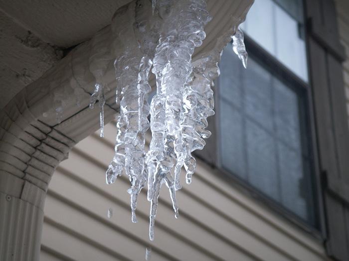 Ice after a recent short melt.