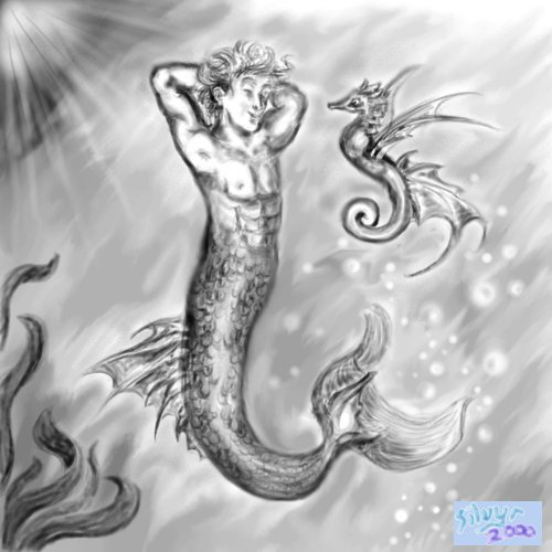 A merman... I think this is still one of the best things I've drawn on the computer.