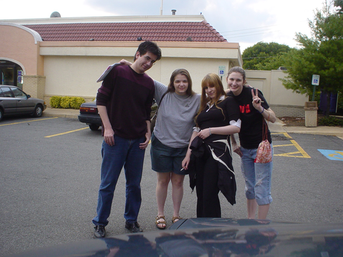 Jarred, me, Heather, and Maren, just before we all parted ways from VA. ._.