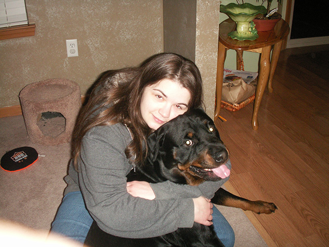 Friends dog Tidus and me!