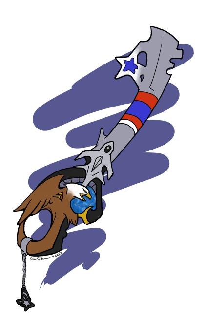 Keyblade based on the USAF.