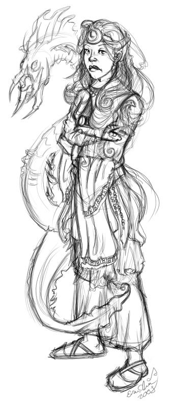 Sha're, the host to the Goa'uld, Amaunet.