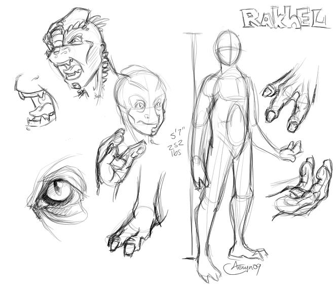 Quick character study of Rakhel.