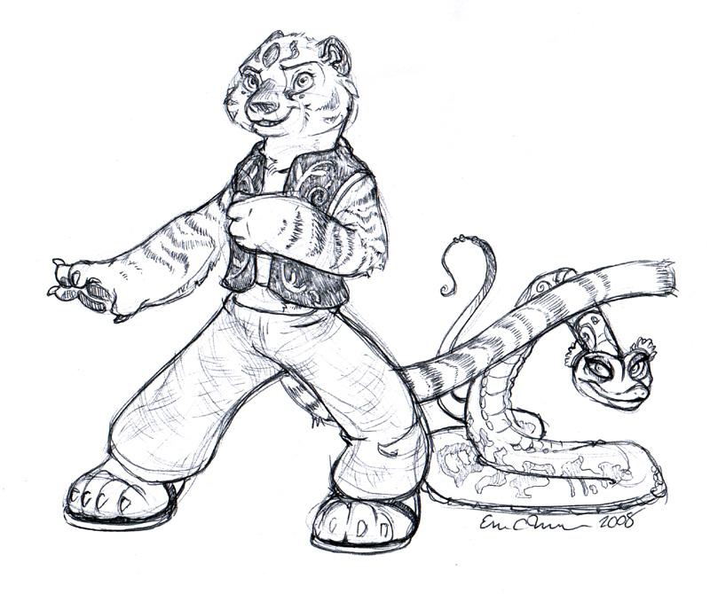 Tigress and Viper from Kung Fu Panda