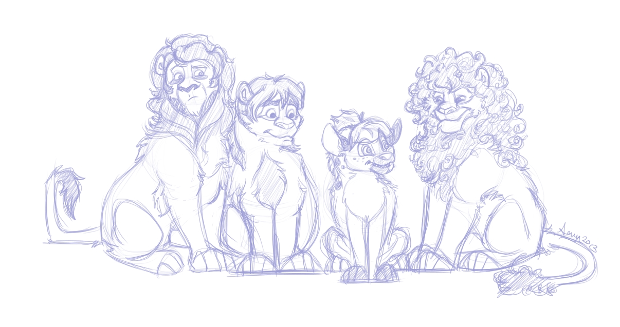 Monkees as lions.