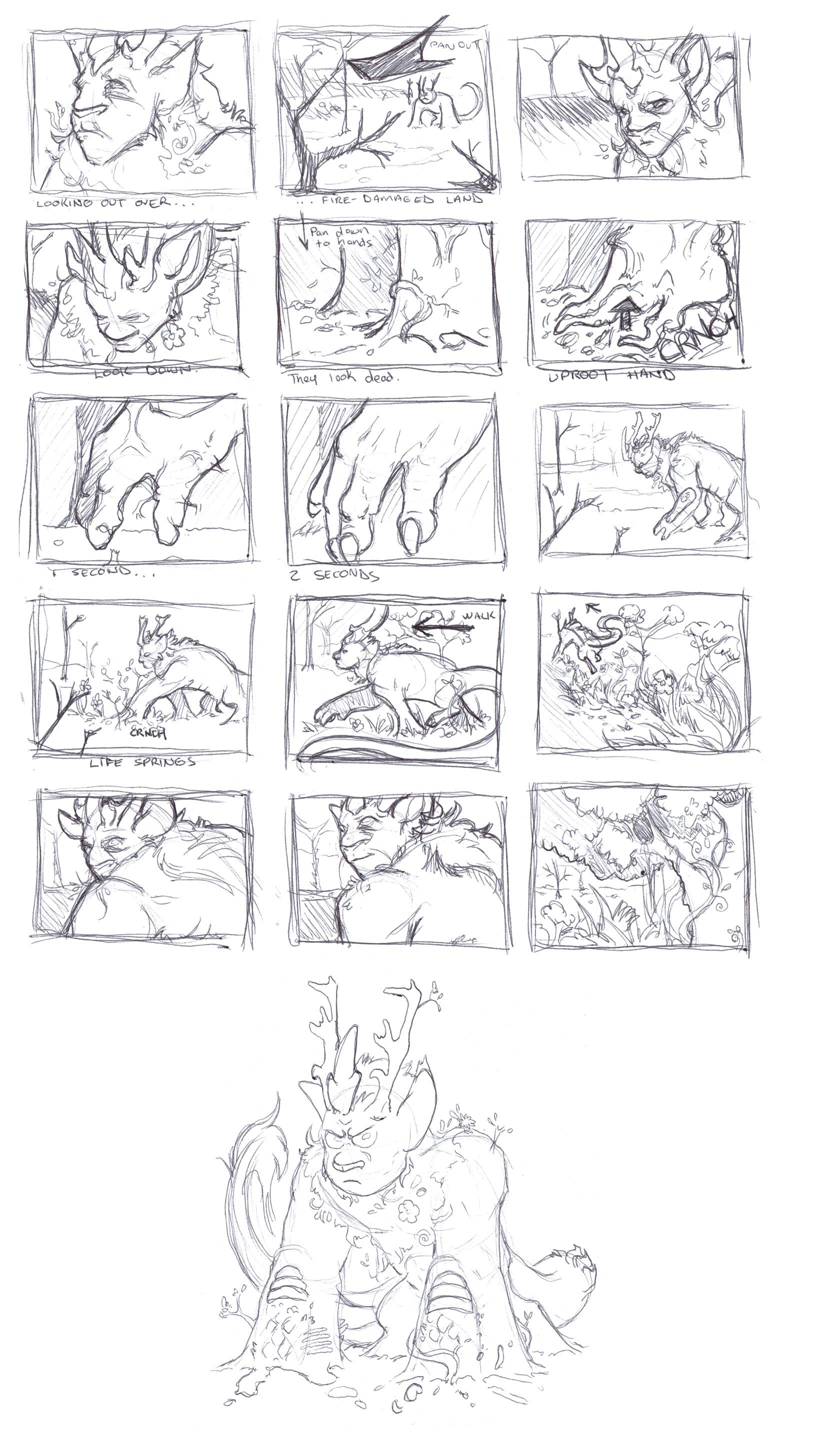 Nature Spirit storyboard.