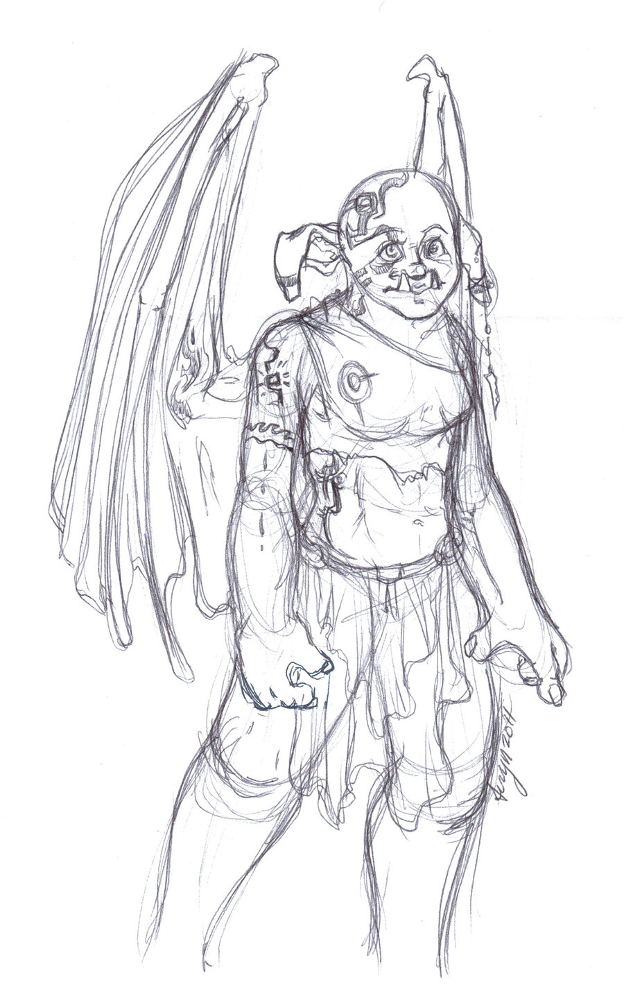 Winged ogre thing.