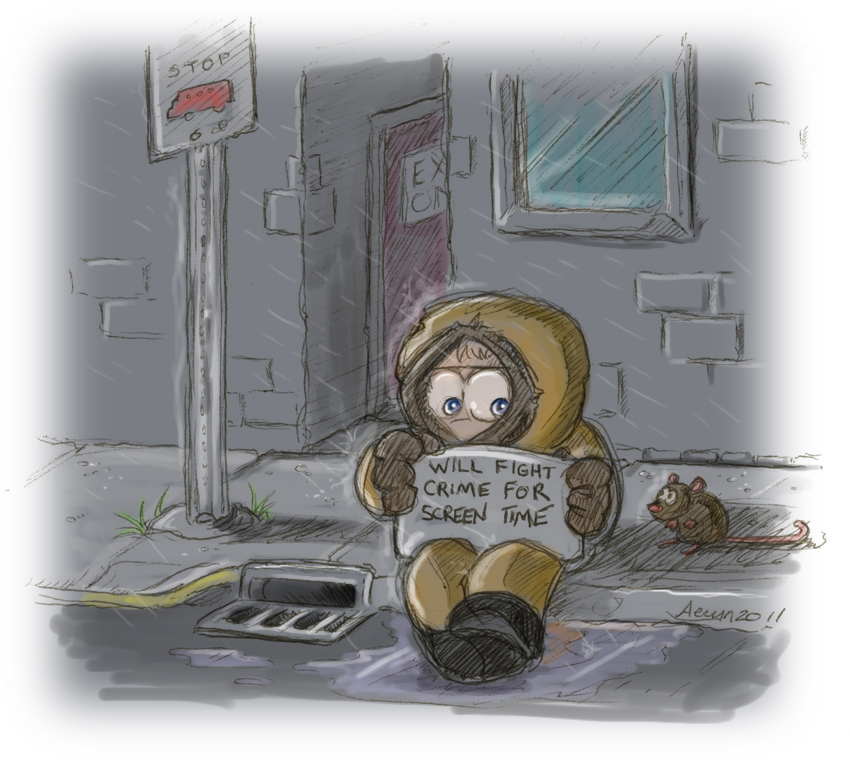 Kenny was very... neglected in season 15. It was disappointing. :|