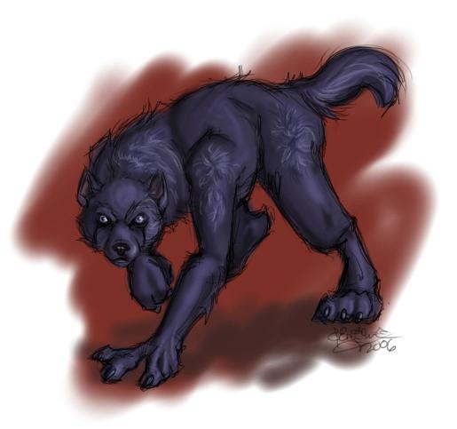 Lex's werewolf state at TIG MUX.