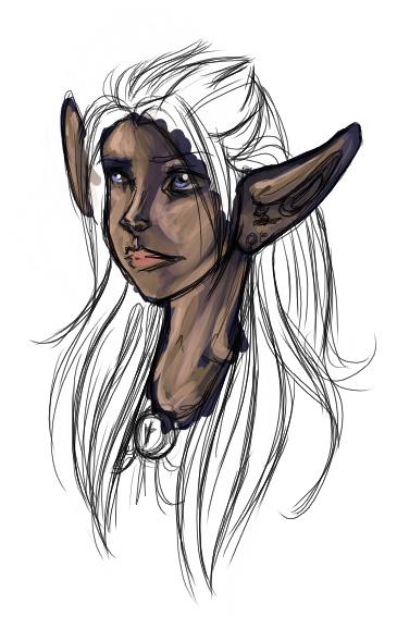 Coda drawn as an elf.
