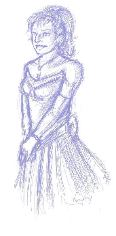 Meryl in her wedding dress.
