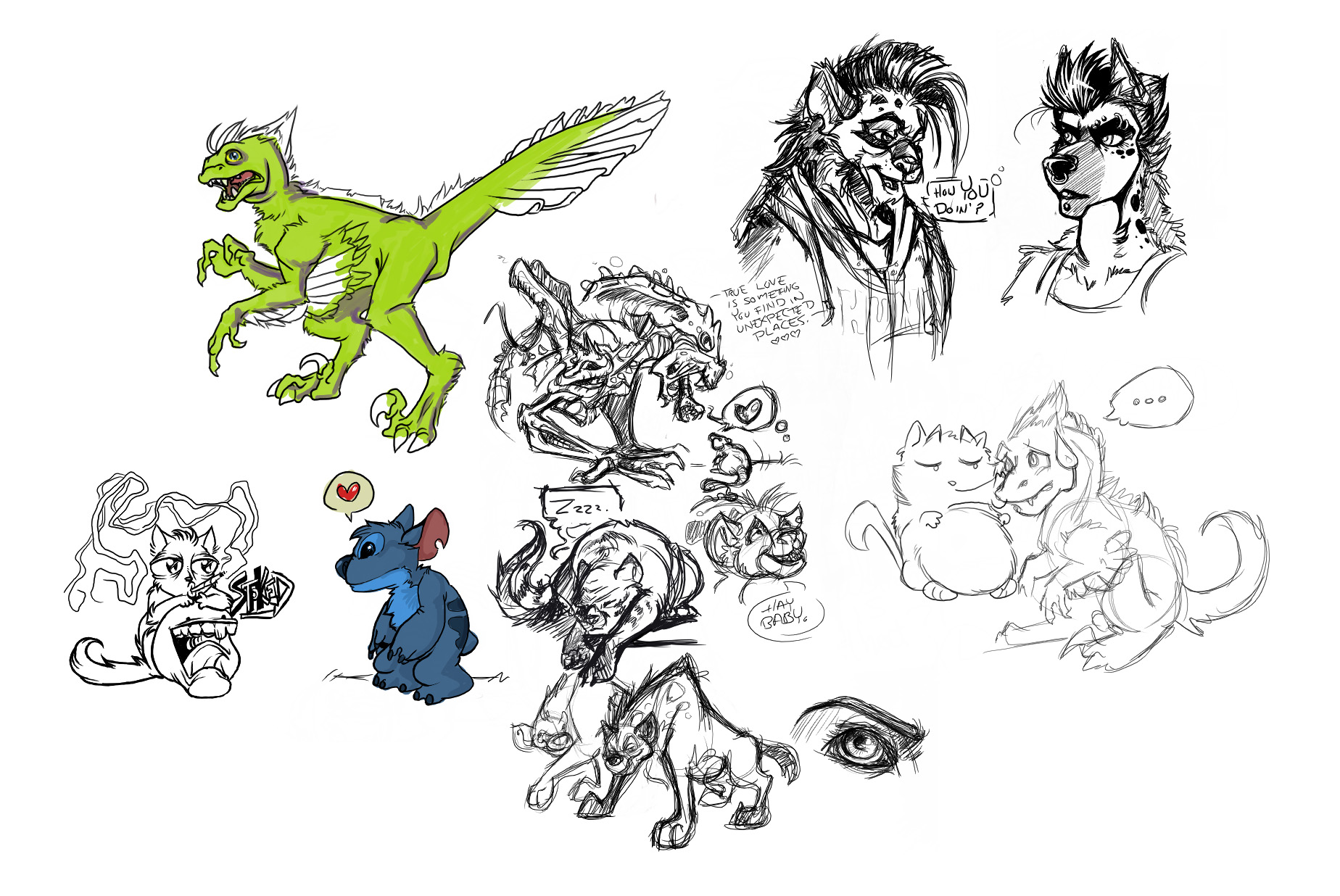 OC doodles by myself and Kara@TIG. I don't have much from her 'cuz she deletes as she draws. XD
