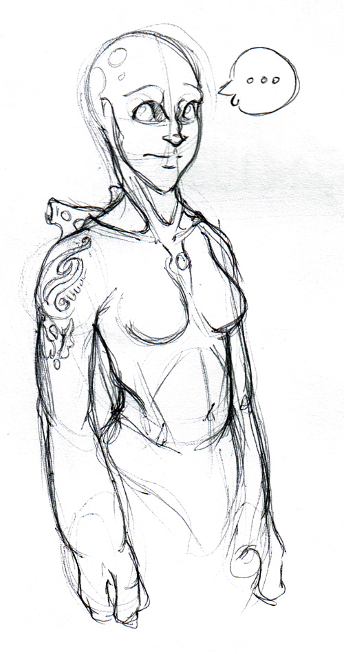 I had this concept for a race of half-alien, half-human creatures...