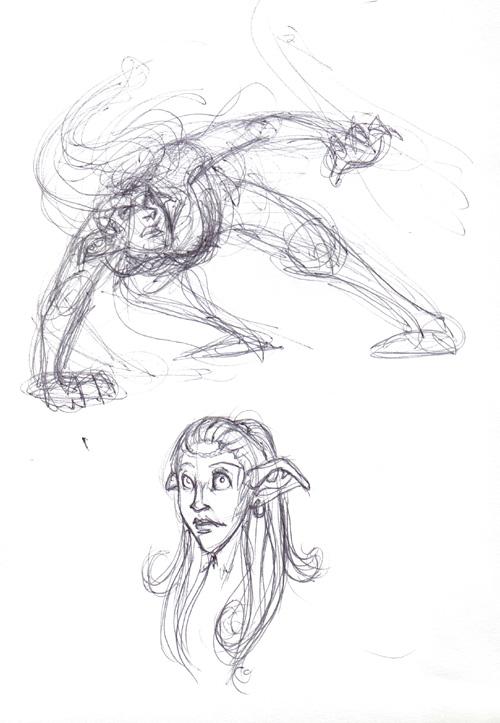 Random elf doodles.