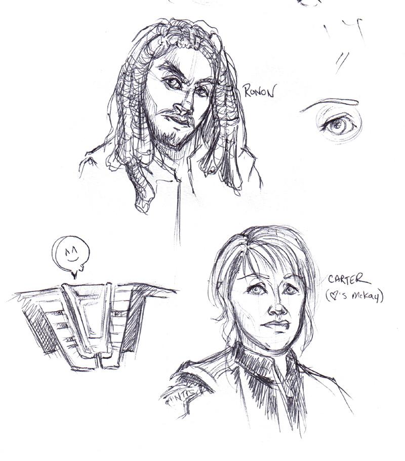Sam Carter and Ronon Dex. (Atlantis/SG-1)