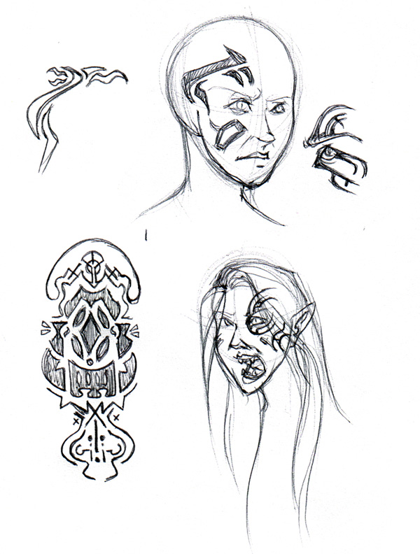Designs of a Wraith Queen character I'm thinking of apping.