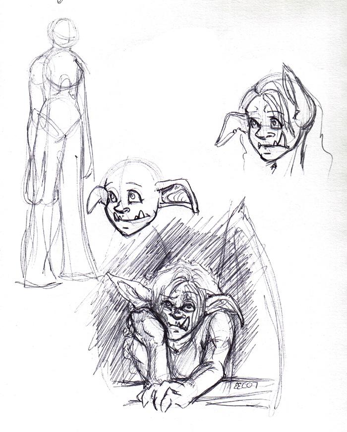 Doodles of Ogre-Claire.