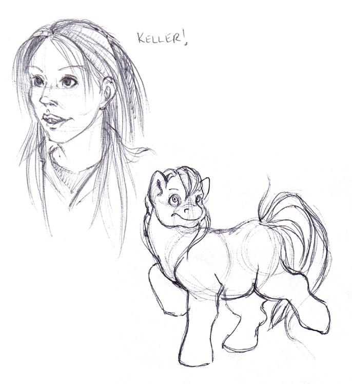 Jennifer Keller (From SGA) and a pony.