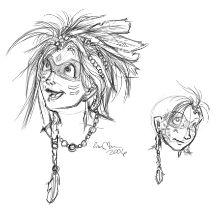 A Tribe OC concept - Ferret, from the Ecotribe.