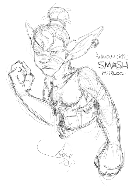 My other goblin character, Anaranjado.