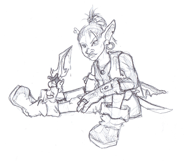 My main character on World of Warcraft, Rhomby the Goblin.