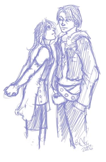 For some reason, I felt like doodling Squall and Rinoa.
