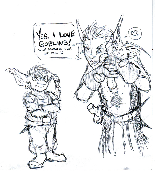 Strike, from the Gobins guild on WoW, and a random goblin.